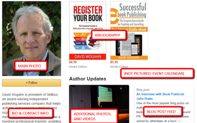 Making the Most of Your Amazon Author Page