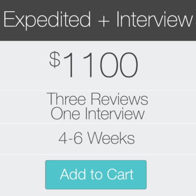 3 Expedited Inteviews Plus Interview